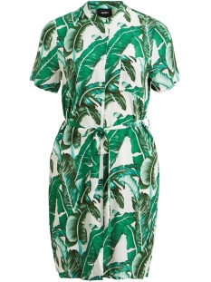 Object Jurk OBJPALMINA S/S DRESS A DIV 23030731 Gardenia/PALM AOP