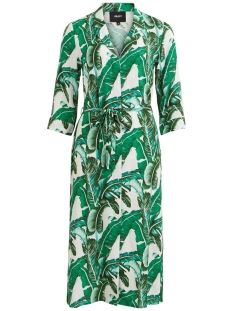Object Jurk OBJPALMINA 3/4 LONG DRESS A DIV 23030732 Gardenia/PALM AOP