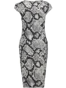 onlmallika capsleeve color dress jr 15188374 only jurk black/snake
