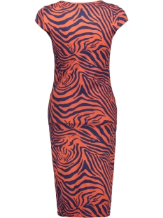 onlmallika capsleeve color dress jr 15188374 only jurk high risk red/zebra