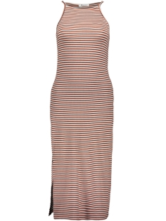 Pieces Jurk PCELENA STRAP MIDI DRESS 17097465 Bright White/REDWOOD/NI