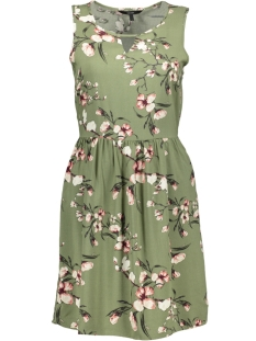 8533126de2c094 Nieuw Vero Moda Jurk VMSIMPLY EASY SL SHORT DRESS 10211484 Oil Green LAURA  - OI