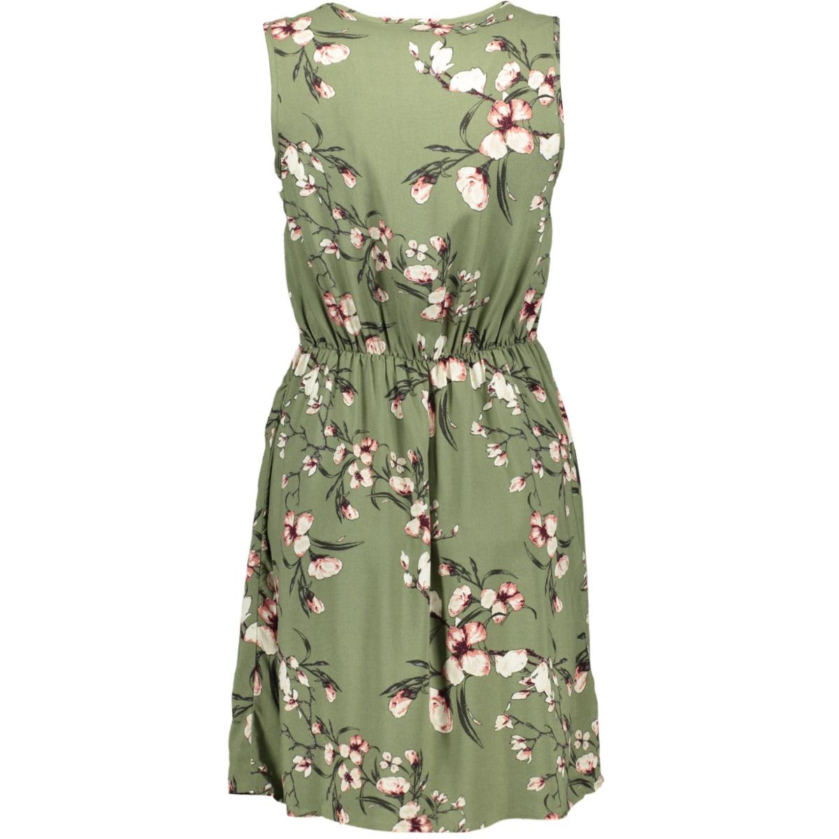 vmsimply easy sl short dress 10211484 vero moda jurk oil green/laura - oi