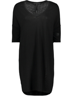 10 Days Jurk V NECK LINEN DRESS 71 358 9100 BLACK