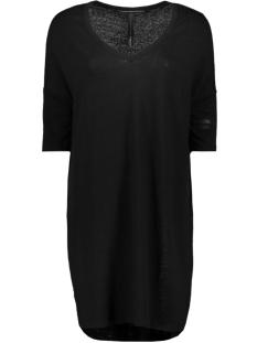 v neck linen dress 71 358 9100 10 days jurk black