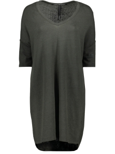 10 Days Jurk V NECK LINEN DRESS 71 358 9100 CHARCOAL