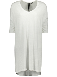 10 Days Jurk V NECK LINEN DRESS 71 358 9100 WHITE