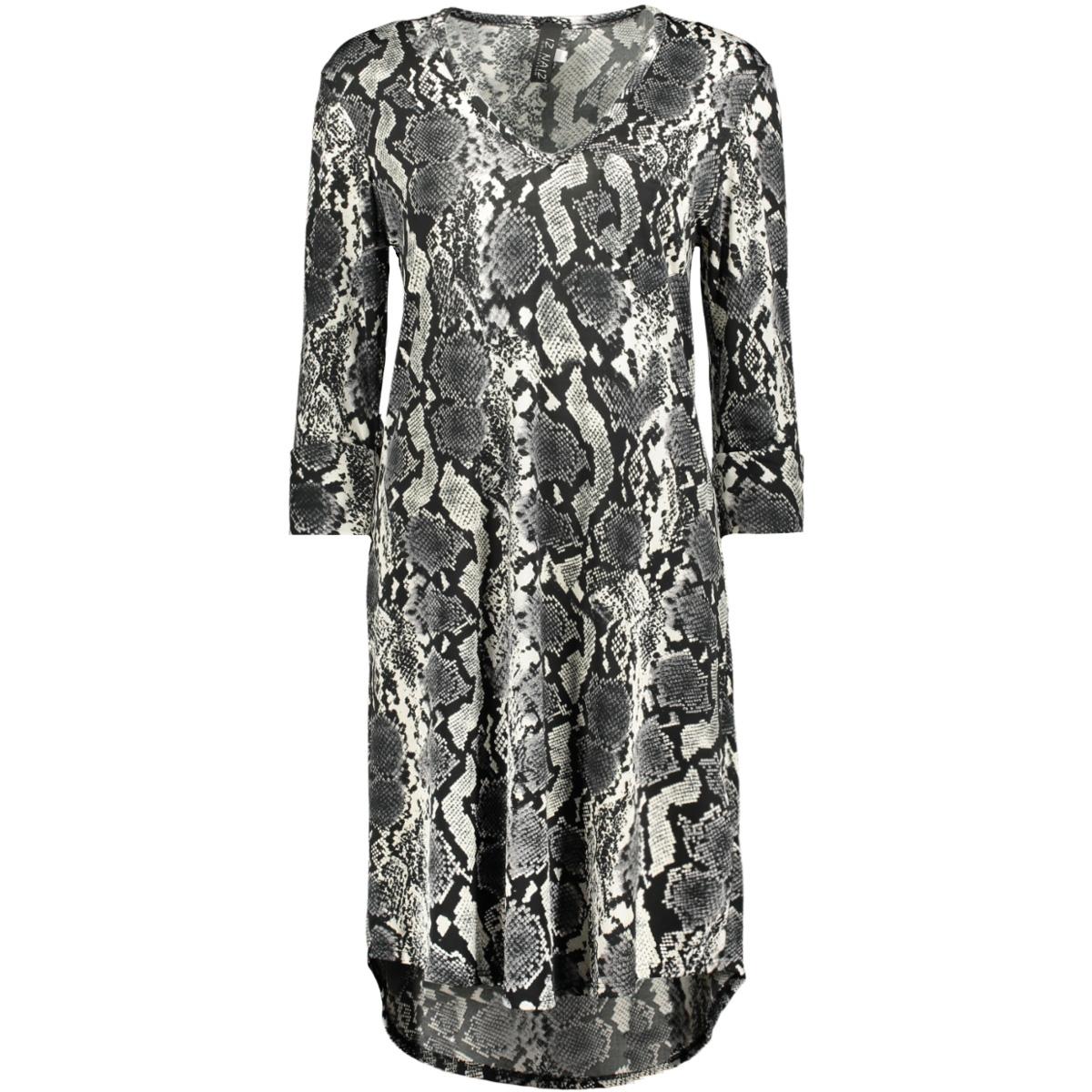 jurk 3515 iz naiz jurk snake grey