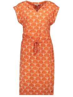 Garcia Jurk JURK MET ALL OVER PRINT GE900500 1220 Red Orange
