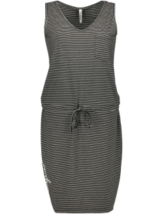 Zoso Jurk HAVANA STRIPED SINGLET DRESS 193 BLACK/WHITE