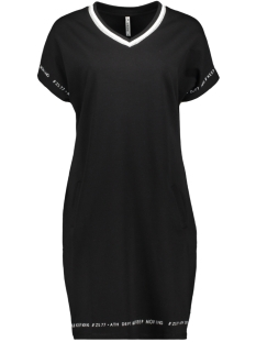 Zoso Jurk SUMMER SWEATDRESS WITH PRINT 193 BLACK/WHITE