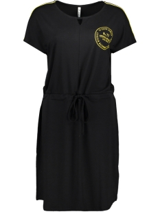 Zoso Jurk HOLISTER DRESS WITH ARTWORK 193 BLACK/YELLOW