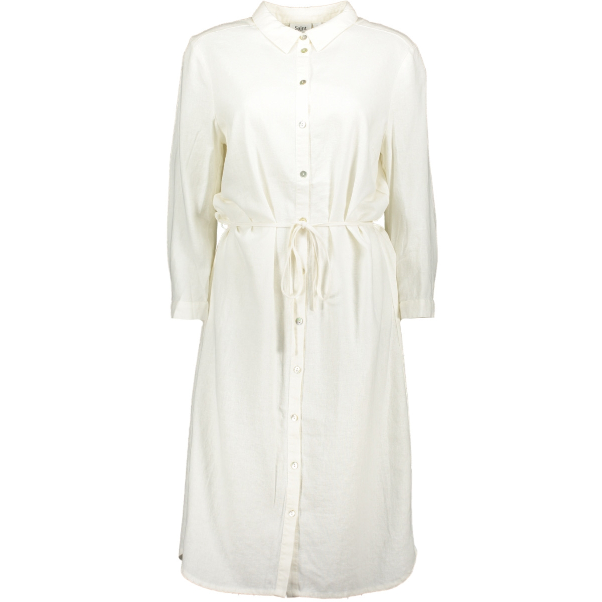 woven linen dress l/s t6191 saint tropez jurk 1000 white