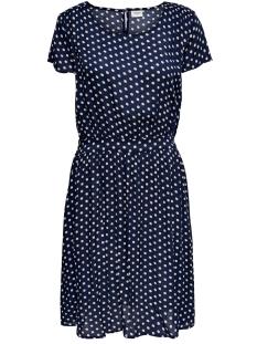 JDYLOGAN S/S DRESS WVN 15176015 Peacoat/OYSTER GREY