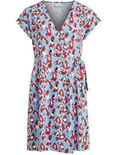 Vila Jurk VILAIA CAMOLA S/S DRESS/L 14056042 Powder Blue/CAMOLA