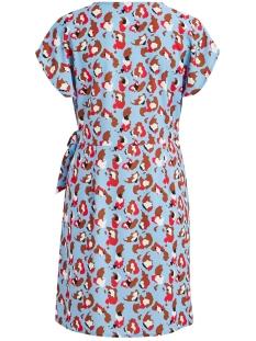 vilaia camola s/s dress/l 14056042 vila jurk powder blue/camola