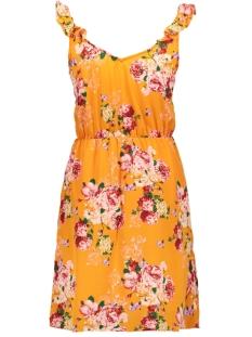 vmane s/l frill short dress exp 10224179 vero moda jurk sun orange/aop ane