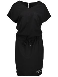 sellin dress with lurex 193 zoso jurk black/white
