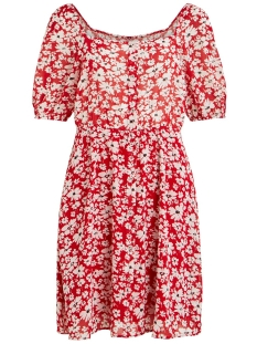 Vila Jurk VIJASMIN S/S DRESS /RX 14055775 Lollipop/FLOWER PRINT
