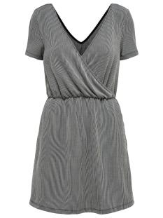 ONLSHIRLEY S/S WRAP DRESS JRS 15180177 Black/CLOUD DANCER