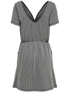 onlshirley s/s wrap dress jrs 15180177 only jurk black/cloud dancer