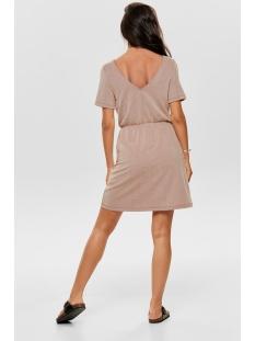 onlshirley s/s wrap dress jrs 15180177 only jurk ketchup/cloud dancer