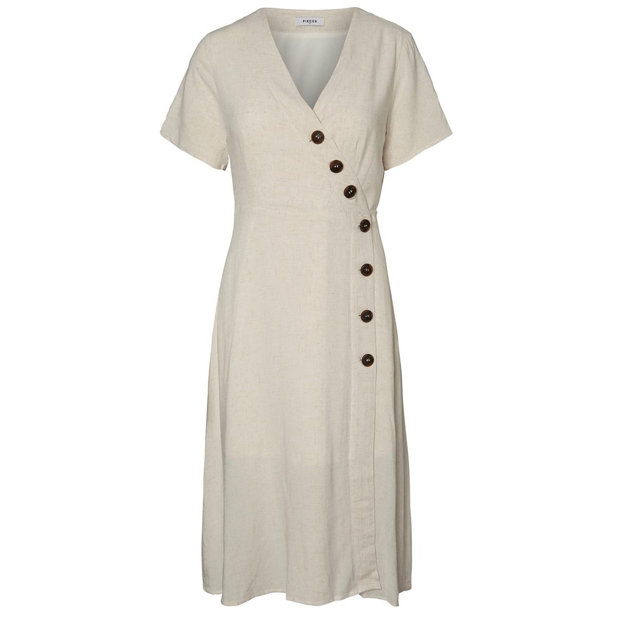 pcedmia ss dress 17098194 pieces jurk almond milk