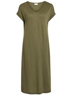Vila Jurk VINOEL S/S V-NECK MEDI DRESS/1 14055842 Ivy Green