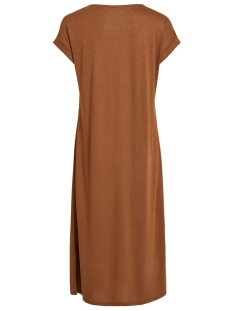 vinoel s/s v-neck medi dress/1 14055842 vila jurk toffee