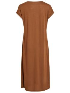 vinoel s/s v-neck medi dress/1 14055842 vila jurk troffee