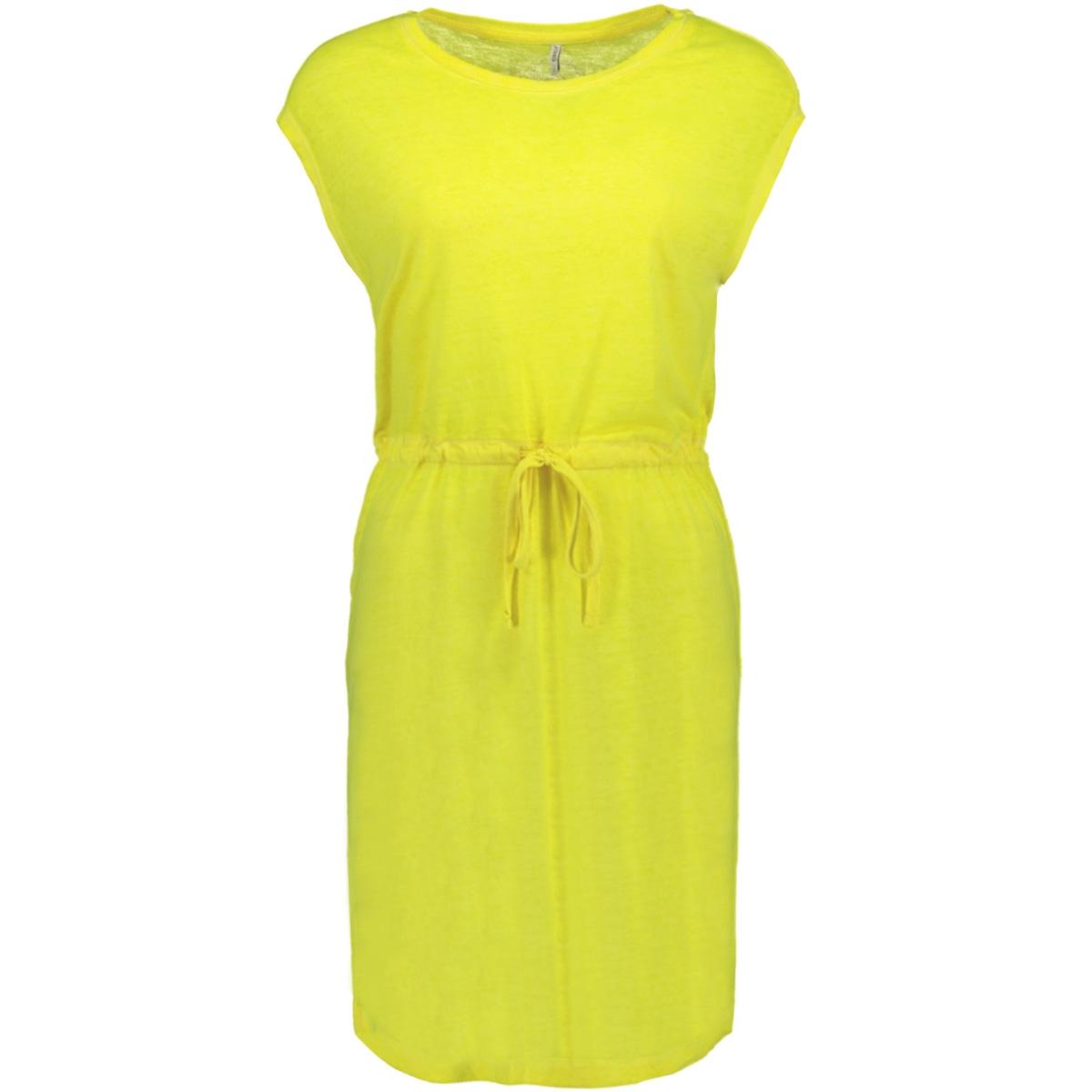 onlnessa s/s dress cs jrs 15194057 only jurk neon yellow
