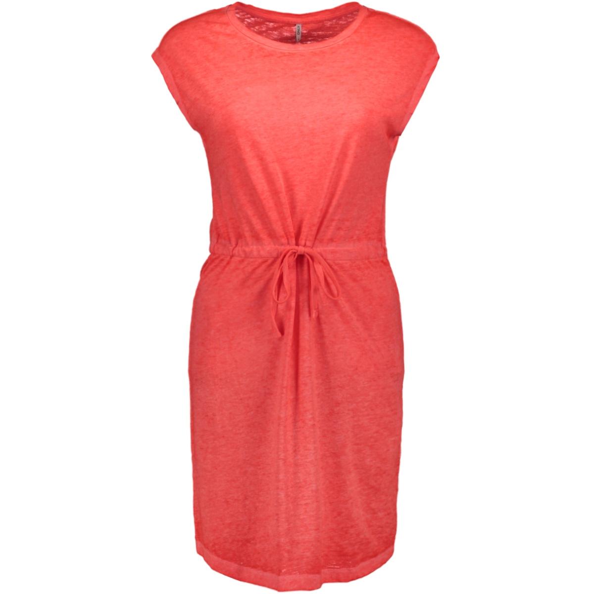 onlnessa s/s dress cs jrs 15194057 only jurk neon pink