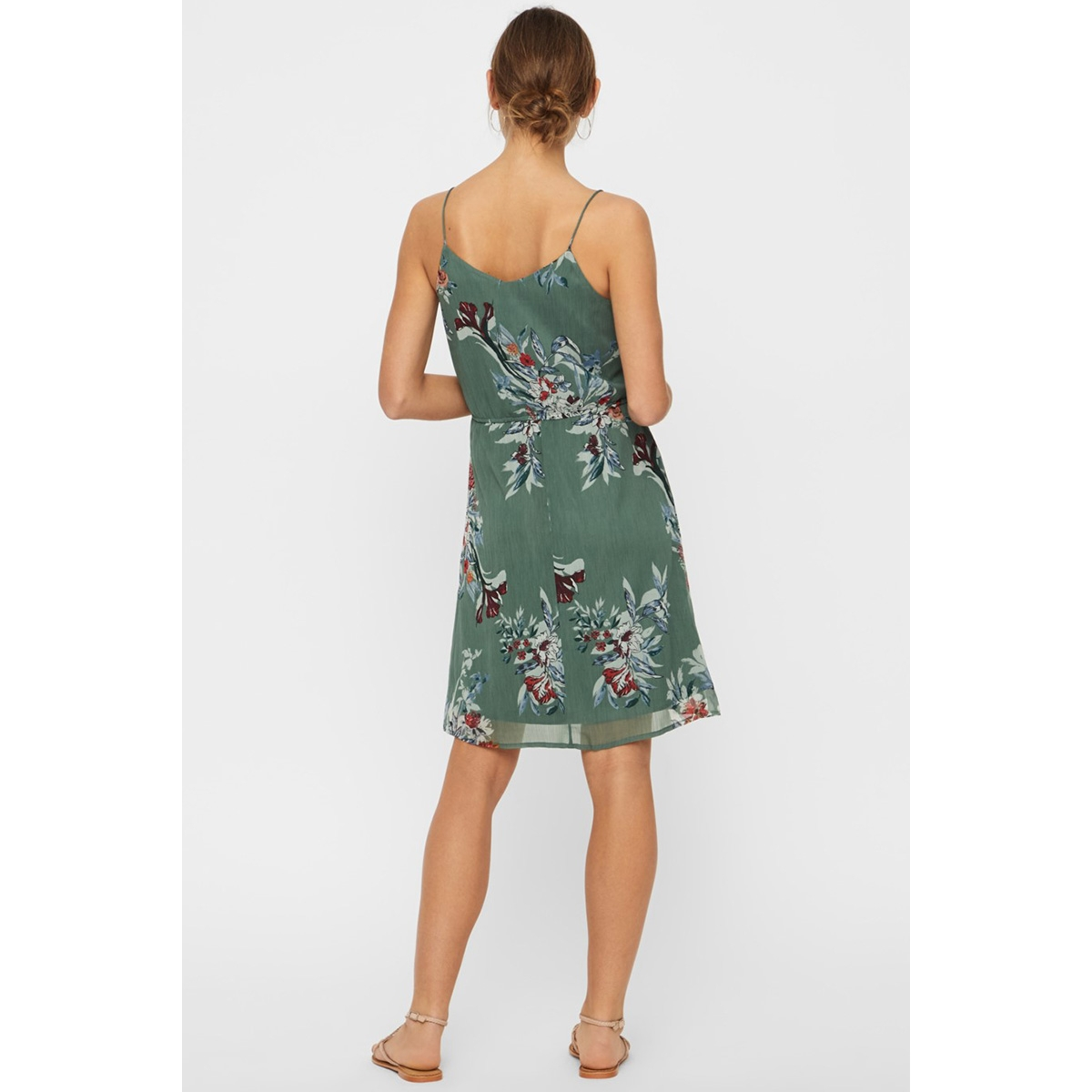 vmwonda singlet short dress exp 10166410 vero moda jurk laurel wreath/lea