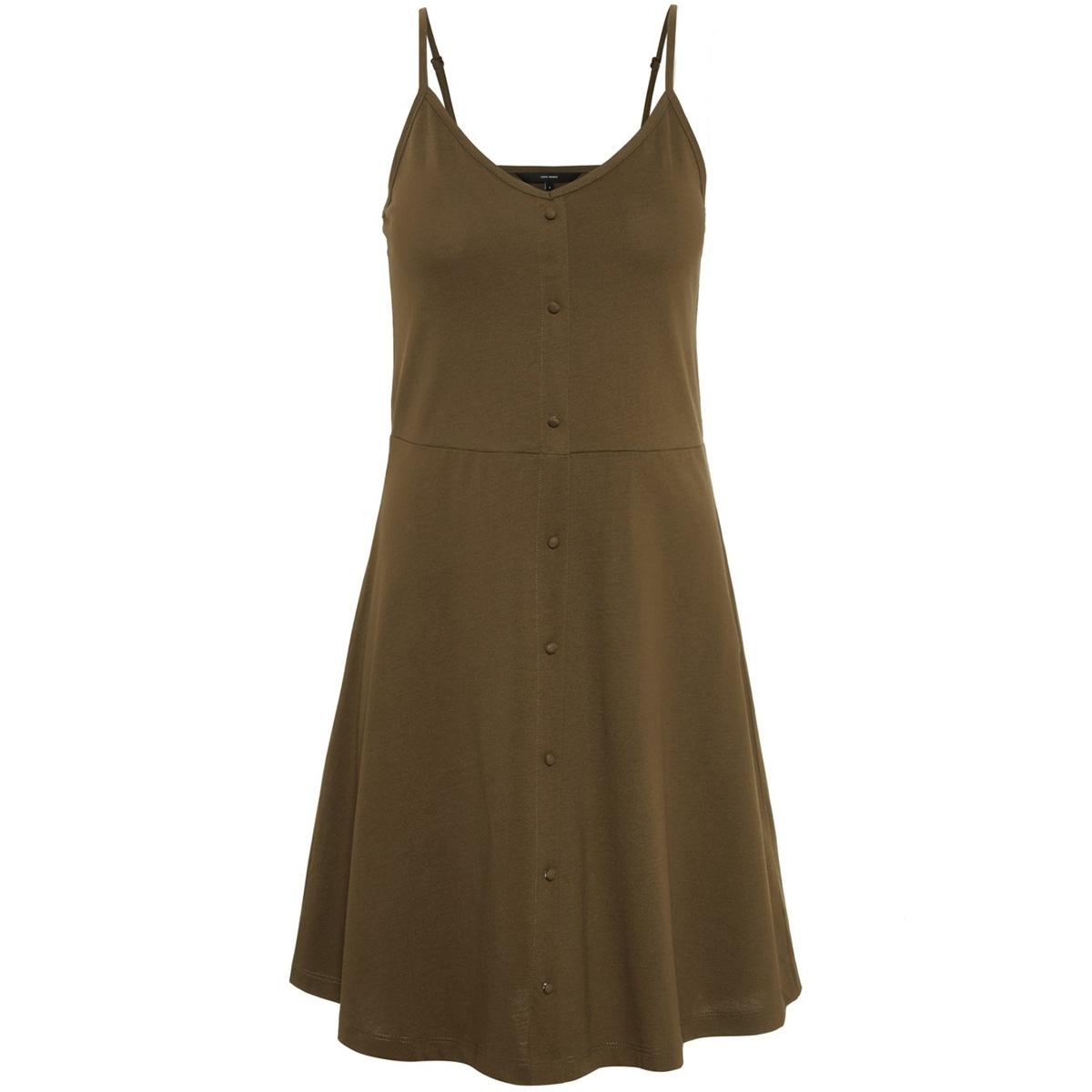 vmadrianne singlet short dress jrs 10212312 vero moda jurk ivy green