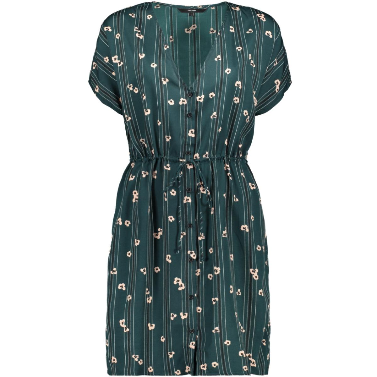 vmelva s/s short shirt dress wvn ga 10217602 vero moda jurk ponderosa pine/elva