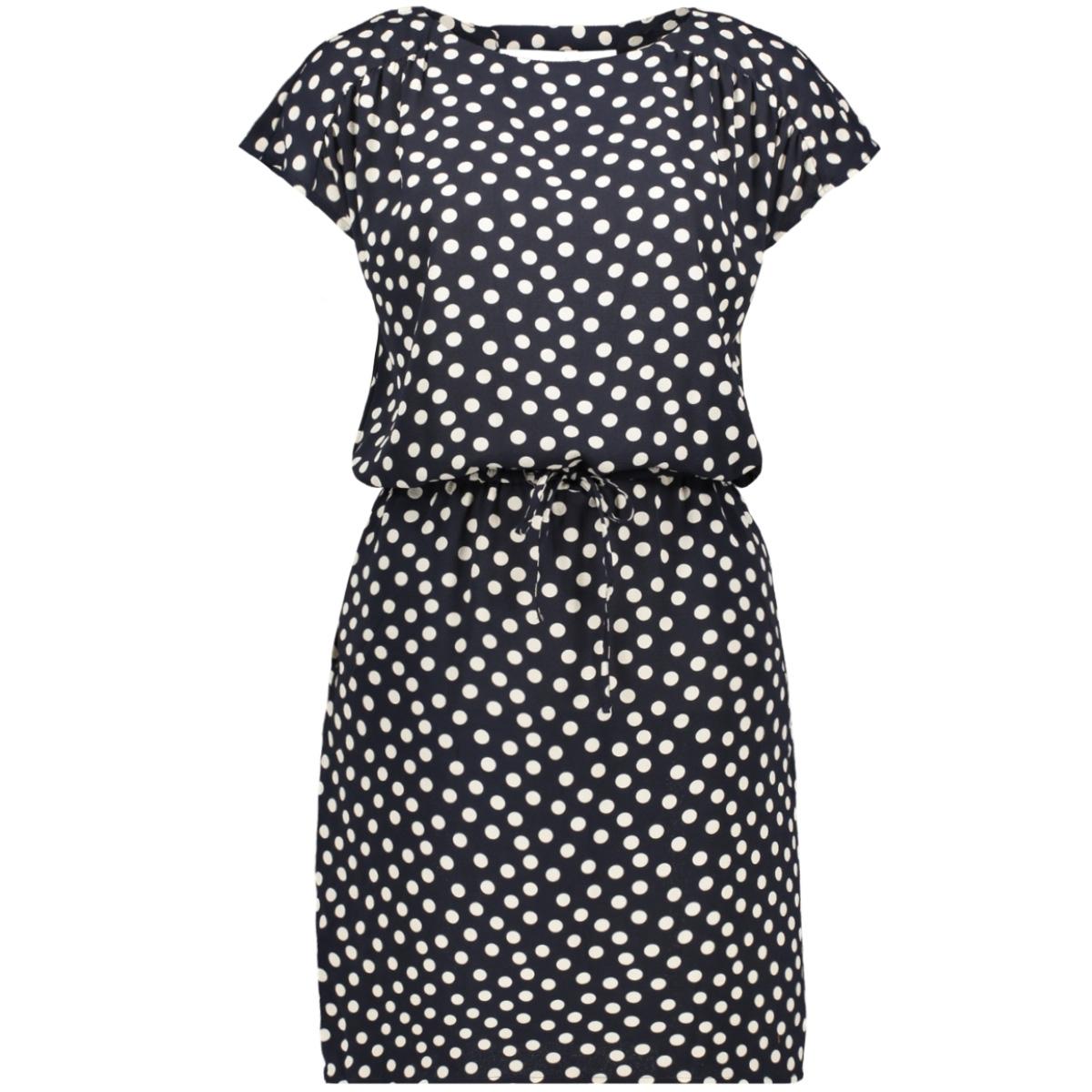 vmsasha bali s/s short dress aop 10224661 vero moda jurk night sky/dot