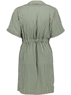 vmariel 2/4 short wrap dress wvn 10215400 vero moda jurk hedge green/ariel