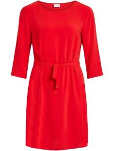 Vila Jurk VILAIA 3/4 SLEEVE DRESS 14053370 Racing Red