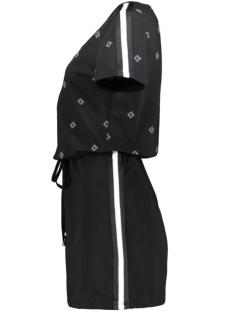 semmy sweatdress with print 193 zoso jurk black/white
