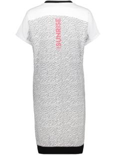 sammie dress with allover print 193 zoso jurk white/red