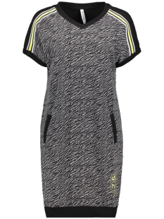 Zoso Jurk SAMMIE DRESS WITH ALLOVER PRINT 193 BLACK/YELLOW