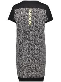 sammie dress with allover print 193 zoso jurk black/yellow