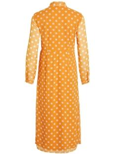 vienna 3/4 ankle dress 14054719 vila jurk golden oak/cloud dancer