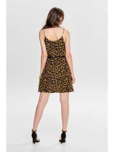 jdyutrecht milo nynne strap dress w 15187966 jacqueline de yong jurk golden brown/leo