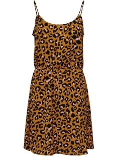 Jacqueline de Yong Jurk JDYUTRECHT MILO NYNNE STRAP DRESS W 15187966 Golden Brown/ROSA LEO