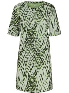 onlnadeem s/s o-neck dress cs jrs 15194052 only jurk bright white/zebra