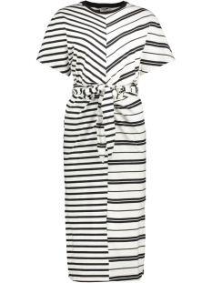 nmleo ss dress bg 27008061 noisy may jurk bright white/black stripes