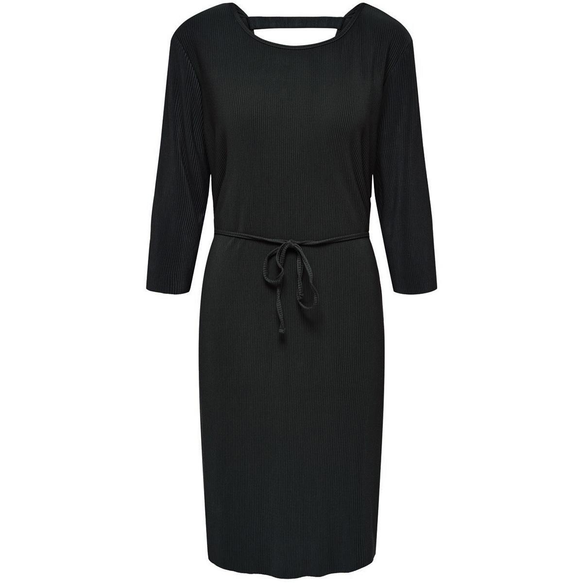 jdyesmarilla 2/4 back detail dress 15184075 jacqueline de yong jurk black