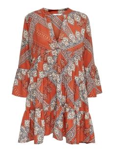 Only Jurk ONLDIANA ATHENA 3/4 DRESS WVN 15189514 Arabian Spice/SCARF PRINT