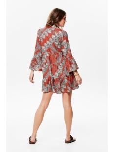 onldiana athena 3/4 dress wvn 15189514 only jurk arabian spice/scarf print